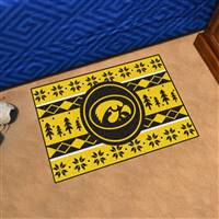 "University of Iowa Holiday Sweater Starter Mat 19""x30"""