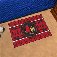 "University of Louisville Holiday Sweater Starter Mat 19""x30"""