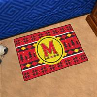 "University of Maryland Holiday Sweater Starter Mat 19""x30"""