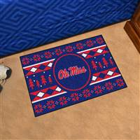 "University of Mississippi (Ole Miss) Holiday Sweater Starter Mat 19""x30"""