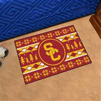 "University of Southern California Holiday Sweater Starter Mat 19""x30"""