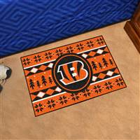 "NFL - Cincinnati Bengals Holiday Sweater Starter Mat 19""x30"""