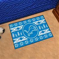 "NFL - Detroit Lions Holiday Sweater Starter Mat 19""x30"""