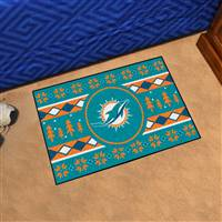 "NFL - Miami Dolphins Holiday Sweater Starter Mat 19""x30"""