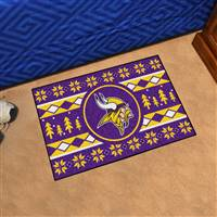 "NFL - Minnesota Vikings Holiday Sweater Starter Mat 19""x30"""