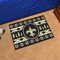 "NFL - New Orleans Saints Holiday Sweater Starter Mat 19""x30"""