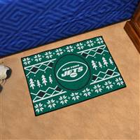 "NFL - New York Jets Holiday Sweater Starter Mat 19""x30"""