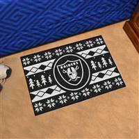"NFL - Las Vegas Raiders Holiday Sweater Starter Mat 19""x30"""