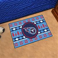 "NFL - Tennessee Titans Holiday Sweater Starter Mat 19""x30"""