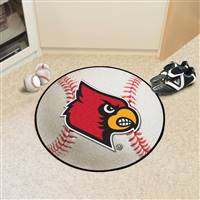 "University of Louisville Baseball Mat 27"" diameter"