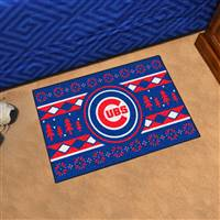 "Chicago Cubs Holiday Sweater Starter Mat 19""x30"""