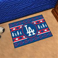 "Los Angeles Dodgers Holiday Sweater Starter Mat 19""x30"""