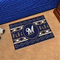 "Milwaukee Brewers Holiday Sweater Starter Mat 19""x30"""