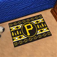 "Pittsburgh Pirates Holiday Sweater Starter Mat 19""x30"""