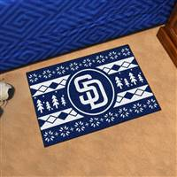 "San Diego Padres Holiday Sweater Starter Mat 19""x30"""