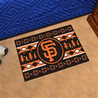 "San Francisco Giants Holiday Sweater Starter Mat 19""x30"""