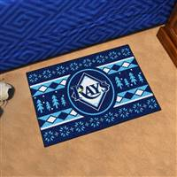 "Tampa Bay Rays Holiday Sweater Starter Mat 19""x30"""