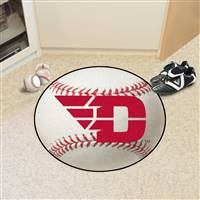 "Dayton Flyers Baseball Rug 29"" diameter"