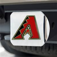 "Arizona Diamondbacks Color Hitch - Chrome 3.4""x4"""
