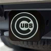 "Chicago Cubs Hitch Cover - Black 3.4""x4"""