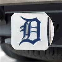 "Detroit Tigers Color Hitch - Chrome 3.4""x4"""