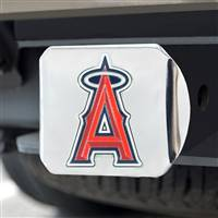 "Los Angeles Angels Color Hitch - Chrome 3.4""x4"""