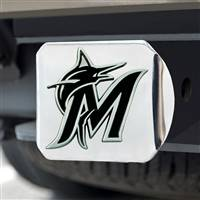 "Miami Marlins Hitch Cover - Chrome 3.4""x4"""