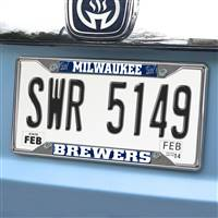 "Milwaukee Brewers License Plate Frame 6.25""x12.25"""