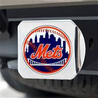 "New York Mets Color Hitch - Chrome 3.4""x4"""