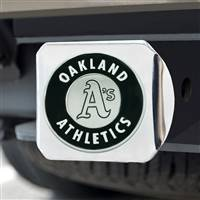 "Oakland Athletics Hitch Cover - Chrome 3.4""x4"""