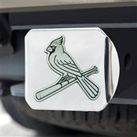 "St. Louis Cardinals Hitch Cover - Chrome 3.4""x4"""