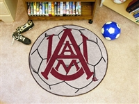 "Alabama A&M Aggies Soccer Ball Rug 29"" Diameter"