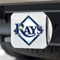 "Tampa Bay Rays Color Hitch - Chrome 3.4""x4"""