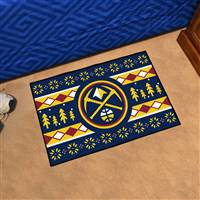 "NBA - Denver Nuggets Holiday Sweater Starter Mat 19""x30"""