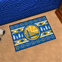 "NBA - Golden State Warriors Holiday Sweater Starter Mat 19""x30"""