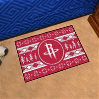 "NBA - Houston Rockets Holiday Sweater Starter Mat 19""x30"""