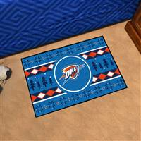 "NBA - Oklahoma City Thunder Holiday Sweater Starter Mat 19""x30"""