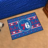 "NBA - Philadelphia 76ers Holiday Sweater Starter Mat 19""x30"""