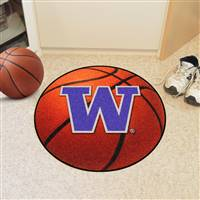 "Washington Huskies Basketball Rug 29"" diameter"