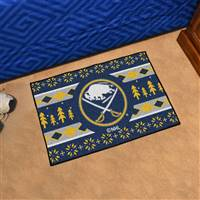 "NHL - Buffalo Sabres Holiday Sweater Starter Mat 19""x30"""