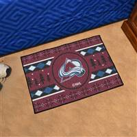 "NHL - Colorado Avalanche Holiday Sweater Starter Mat 19""x30"""