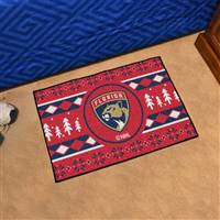 "NHL - Florida Panthers Holiday Sweater Starter Mat 19""x30"""
