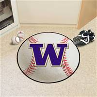 "Washington Huskies Baseball Rug 29"" Diameter"