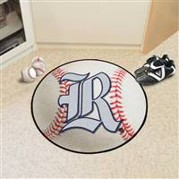 "Rice Owls Baseball Rug 29"" Diameter"