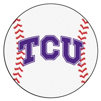 "Texas Christian (TCU) Horned Frogs Baseball Rug 29"" diameter"