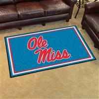 "University of Mississippi (Ole Miss) 4x6 Rug 44""x71"""