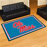 "University of Mississippi (Ole Miss) 5x8 Rug 59.5""x88"""
