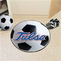 "University of Tulsa Soccer Ball Mat 27"" diameter"