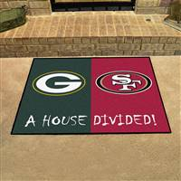 "NFL House Divided - Packers / 49ers House Divided Mat 33.75""x42.5"""