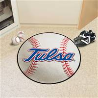 "University of Tulsa Baseball Mat 27"" diameter"
